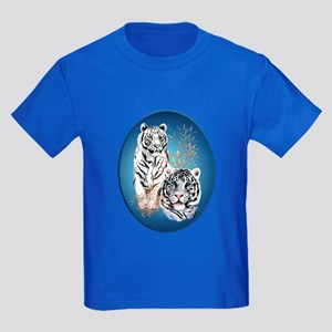 White Tigers Shirts Kids Dark T-Shirt