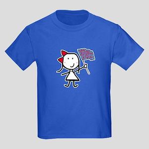 Girl & Color Guard Kids Dark T-Shirt