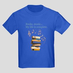 Books and music Kids Dark T-Shirt