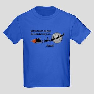 Christmas Vacation Play Ball! Kids Dark T-Shirt