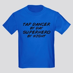 Tap Dancer Superhero by Night Kids Dark T-Shirt