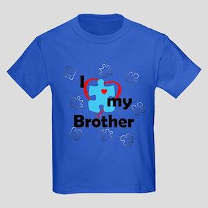 I Love My Brother - Autism Kids Dark T-Shirt