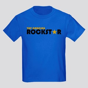Tap Dancing Rockstar Kids Dark T-Shirt