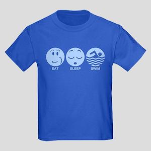 Eat Sleep Swim Kids Dark T-Shirt
