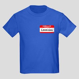 Hello My Name is Leonidas Kids Dark T-Shirt