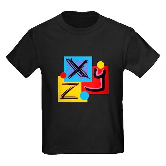 xyz kids dark tshirt xyz tshirtpizazzz kid tshirts