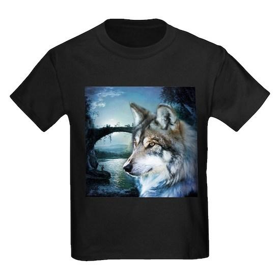 woodland moonlight wild wolf