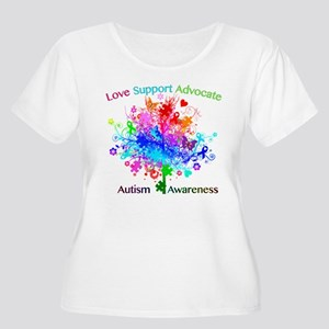 Autism Tree in Spectrum Plus Size T-Shirt