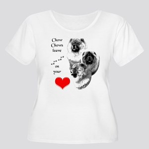 Chow 4 Women's Plus Size Scoop Neck T-Shirt