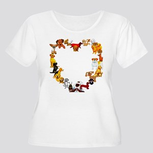 Dog Heart Women's Plus Size Scoop Neck T-Shirt