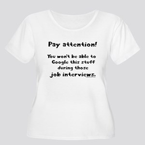 Pay attention funny teacher Women's Plus Size Scoo