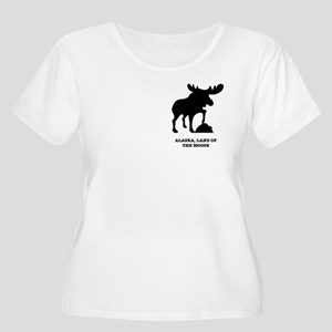 Land Of The Moose Women's Scoop Plus Size T-Shirt
