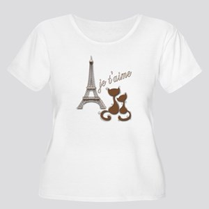 Chocolate Brown I Love Paris Eiffel Tower Cats Plu