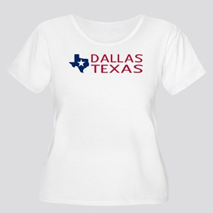 Texas: Dallas (State Shape & Star) Plus Size T-Shi
