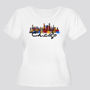 Chicago Illin Women's Plus Size Scoop Neck T-Shirt
