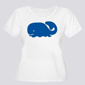 Big Blue Whale Plus Size T-Shirt