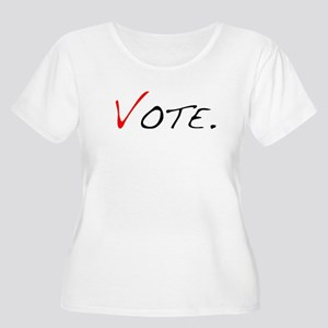 Vote. Women's Plus Size Scoop Neck T-Shirt