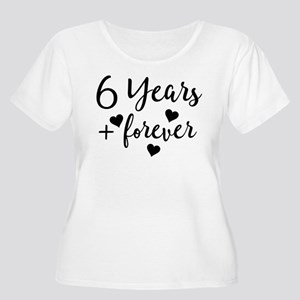 6th Anniversary Couples Gift Plus Size T-Shirt