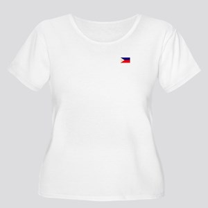 Women's Plus Size Scoop Neck T Flag (front/back)