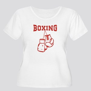 b221dce7e Hanging Boxing Gloves Art Plus Size Scoop Neck Tees - CafePress