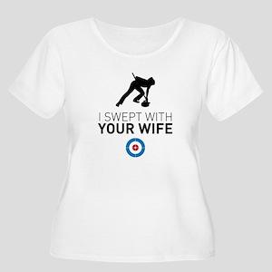 84d34c7491 Funny Curling Sport Women's Plus Size T-Shirts - CafePress