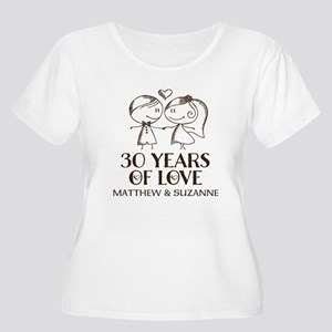 c4aac7866d 30th Anniversary Women's Plus Size T-Shirts - CafePress