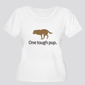 Dog cancer awareness Women's Plus Size Scoop Neck