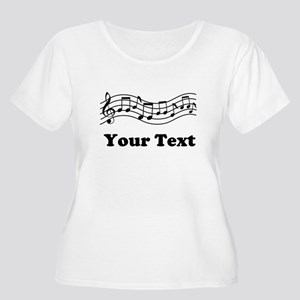 Music Staff Personalized Women's Plus Size Scoop N