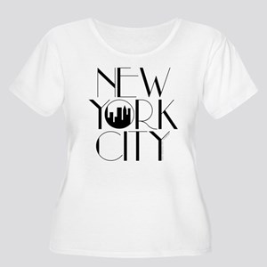 New York Women's Plus Size Scoop Neck T-Shirt
