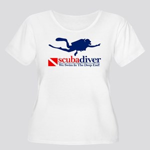 3b8496abb Scuba Diver Women's Plus Size T-Shirts - CafePress
