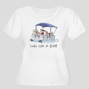 5a6bdec5d63eb5 Life Is Good Women's Plus Size T-Shirts - CafePress