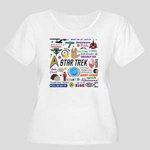 Trekkie Memor Women's Plus Size Scoop Neck T-Shirt