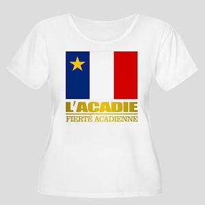 Acadian Flag Plus Size T-Shirt