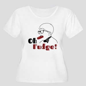 Oh Fudge Women's Plus Size Scoop Neck T-Shirt