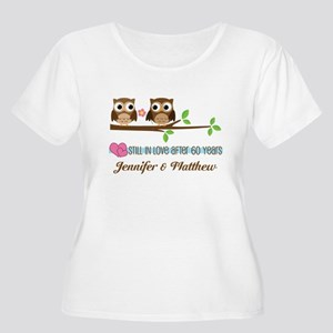 60th Anniversary Personalized Owl Gift Plus Size T