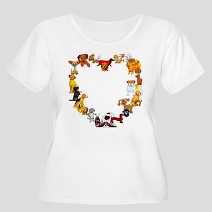 Dog Heart Women's Plus Size Scoop Neck T-Shirt