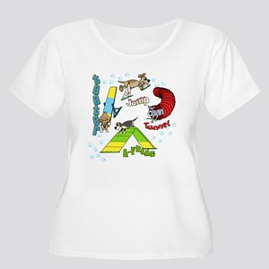 Four Agility Obstacles Women's Plus Size Tee Shirt