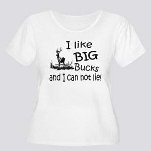 BIG Bucks Women's Plus Size Scoop Neck T-Shirt