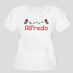Alfredo, Christmas Women's Plus Size Scoop Neck T-
