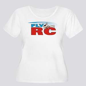 Fly RC Women's Plus Size Scoop Neck T-Shirt