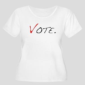 Vote. Women's Plus Size Scoop Neck T-Shirt