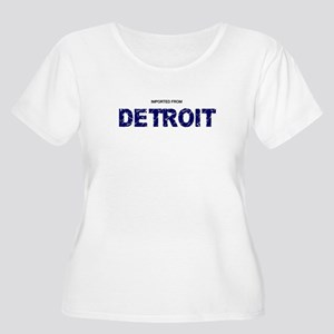 Imported From Detroit Blue Plus Size T-Shirt
