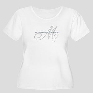 Elegant Name and Monogram Plus Size T-Shirt