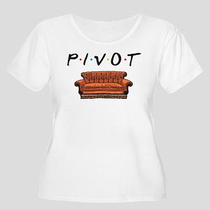 Friends Pivot Women's Plus Size Scoop Neck T-Shirt