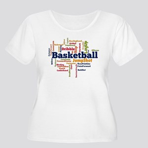 Basketball Word Cloud Plus Size T-Shirt