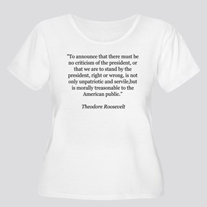 Teddy Roosevelt Quote Women's Plus Size T-Shir