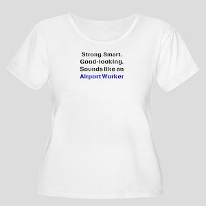 airport worke Women's Plus Size Scoop Neck T-Shirt