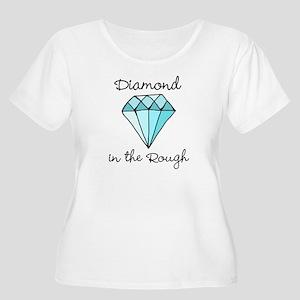 'Diamond in the Rough' Women's Plus Size Scoop Nec