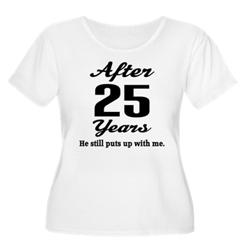 25th Anniversary Funny Quote T Shirt Funny 25th Anniversary Quote