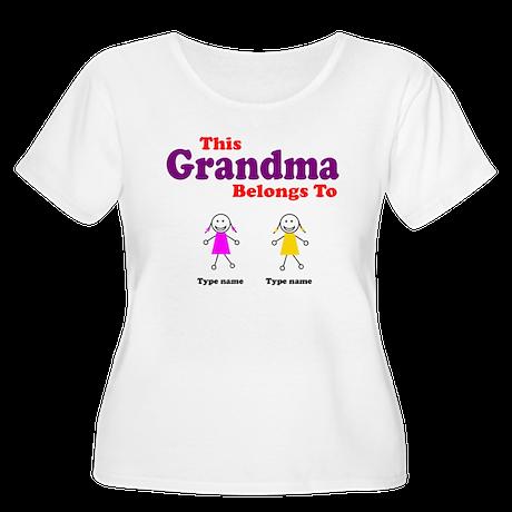 This Grandma Belongs 2 Two Women's Plus Size Scoop